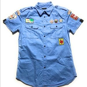 Dsquared2 Corps Military Boy Scout Patches Shirt
